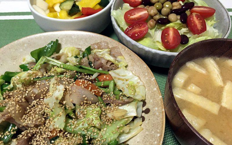 豚肉と野菜のオイスターソース炒め(2020/07/16)