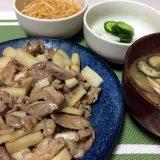 豚肉と長芋の醤油炒め(2020/07/21)