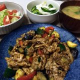 豚肉と夏野菜のカレー炒め(2020/07/23)