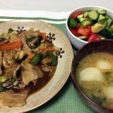豚肉と野菜のオイスターソース豆板醤炒め(2020/07/26)