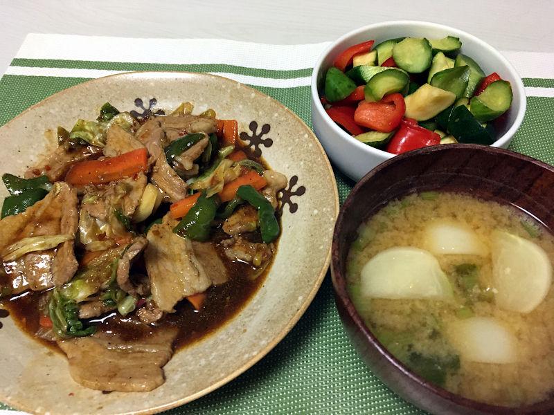 豚肉と野菜のオイスターソース豆板醤炒め