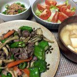 豚肉と万願寺とうがらしの甘辛炒め(2020/07/28)