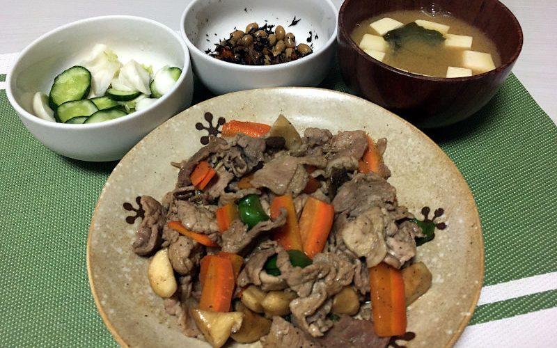 豚肉とエリンギの醤油炒め(2020/08/27)