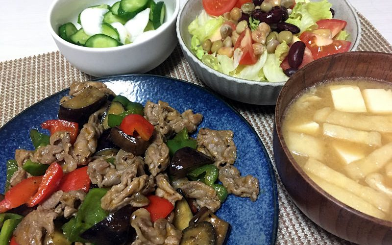 豚肉と夏野菜のチリソース炒め(2020/07/31)