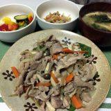 豚肉と野菜の照り焼き風炒め(2020/08/08)