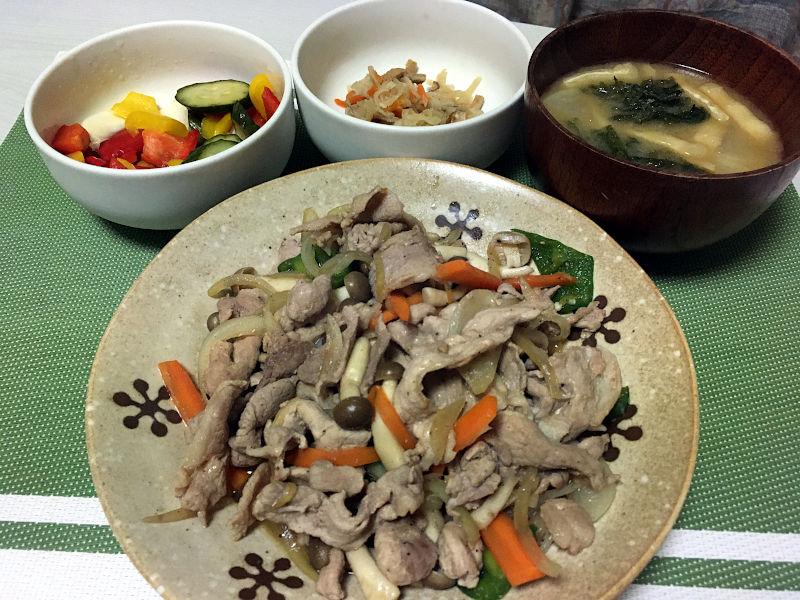 豚肉と野菜の照り焼き風炒め