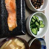 生鮭の塩焼き(2020/08/15)