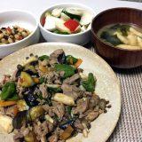 豚肉とぶなしめじのピリ辛醤油炒め(2020/08/20)