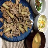 豚肉と長芋の醤油炒め(2020/08/22)