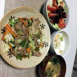 豚肉と野菜のオイスターソース炒め(2020/08/23)
