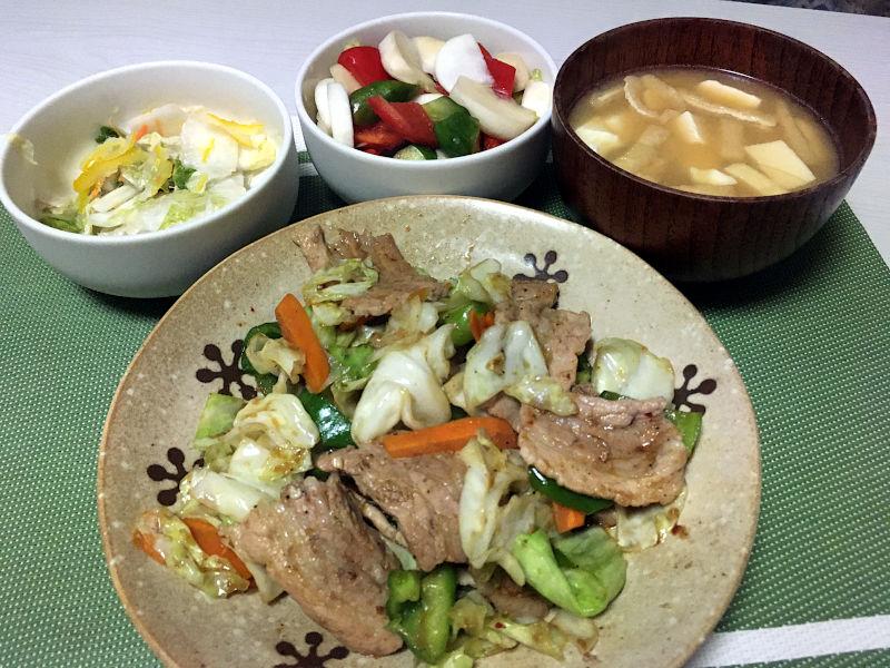 豚肉と野菜の焼肉のタレ炒め