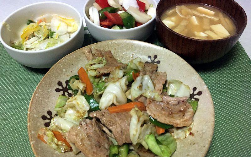 豚肉と野菜の焼肉のタレ炒め(2020/08/31)
