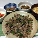 豚肉とおくらとれんこんの甘辛炒め(2020/09/02)