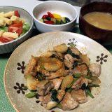 鶏肉とかぶの醤油炒め+ゆずとうがらし(2020/09/10)