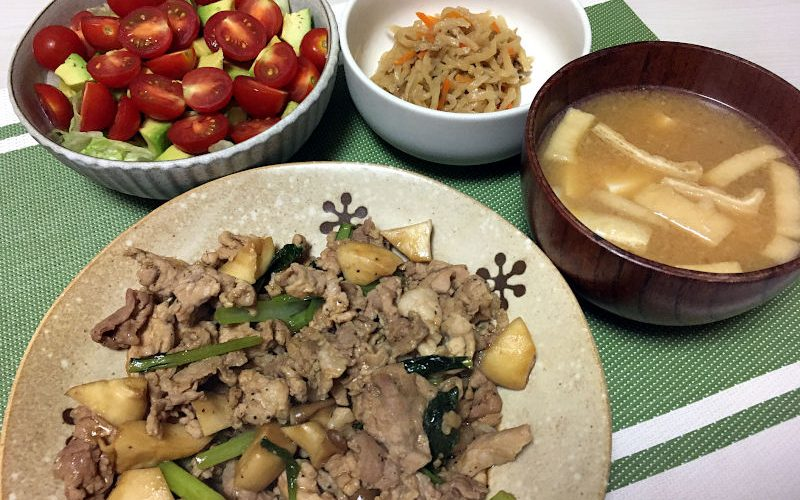 豚肉と小松菜のオイスターソース炒め(2020/09/23)
