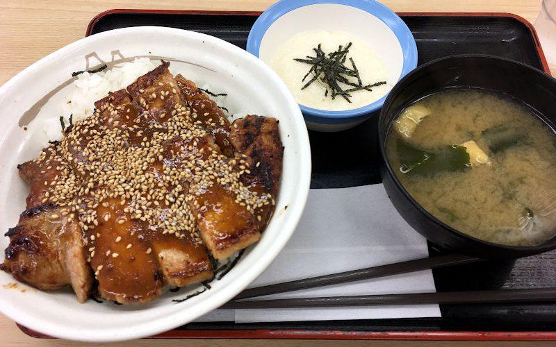 味噌漬けトンテキ丼とろろ付き@松屋