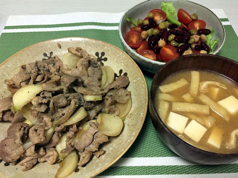 豚肉とかぶの醤油炒め