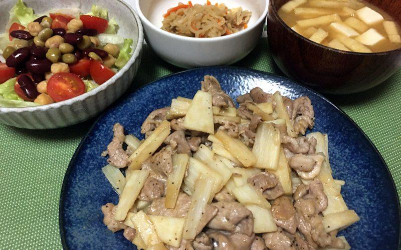 豚肉と長芋の醤油風味炒め(2020/11/15)