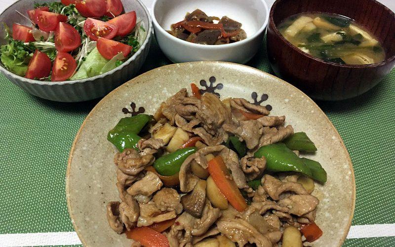 豚肉と土佐甘とうとエリンギのオイスターソース炒め(2020/11/22)