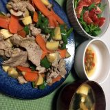 豚肉とエリンギの甘辛醤油炒め