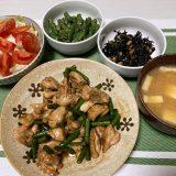 鶏もも肉とにんにくの芽のオイスター炒め(2020/12/22)