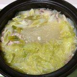 地鶏だし塩鍋つゆを使って鍋(2020/12/23)