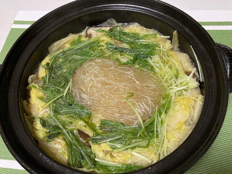 久原醤油の出汁を使って白菜鍋
