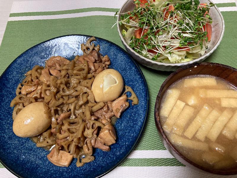 鶏肉とれんこんのこってり煮