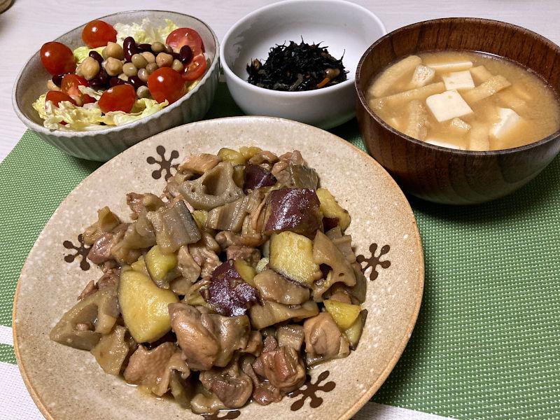鶏肉と根菜のうま照り煮