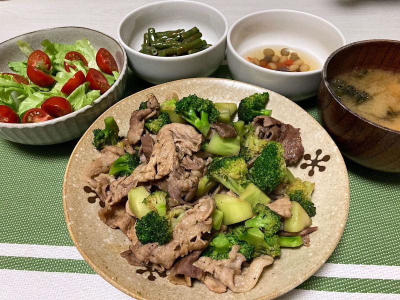 豚肉とブロッコリーのオイスターソース炒め