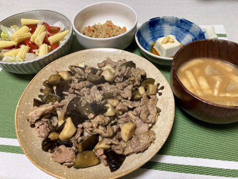 豚肉と茄子の味噌ダレ炒め