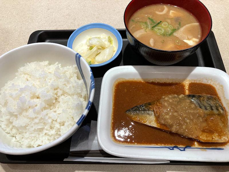 さばの味噌煮定食豚汁セット@松屋