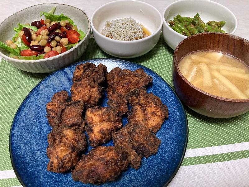 塩麹で鶏の唐揚げ