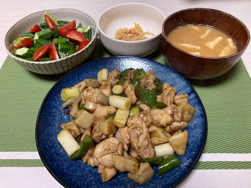 鶏肉とれんこんの南蛮炒め