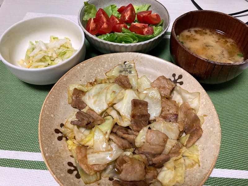 豚肉とキャベツの味噌ダレ炒め
