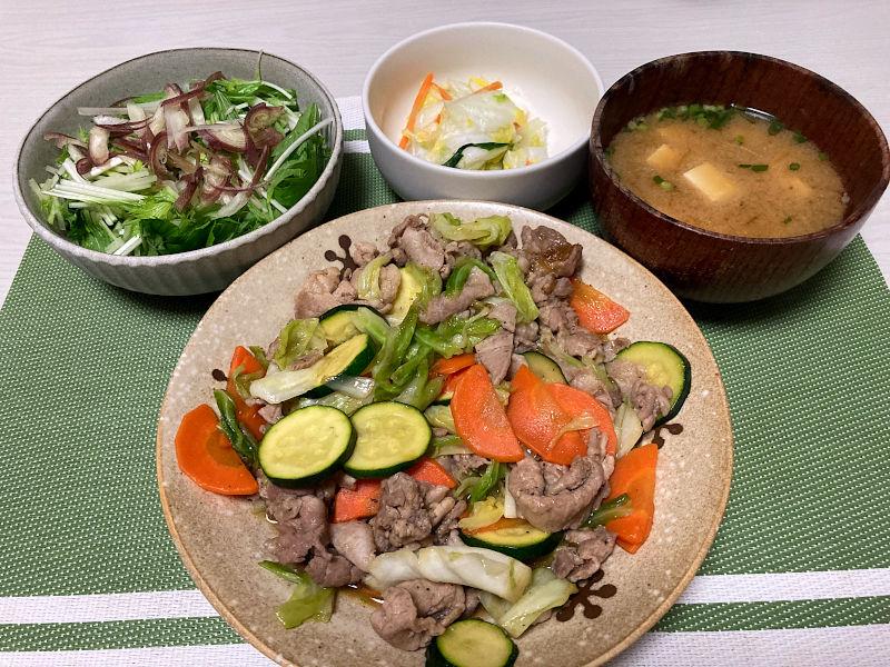 中華風肉野菜炒め