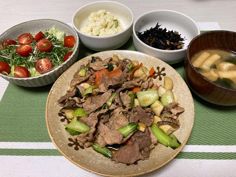 豚肉とチンゲン菜のオイスターソース炒め