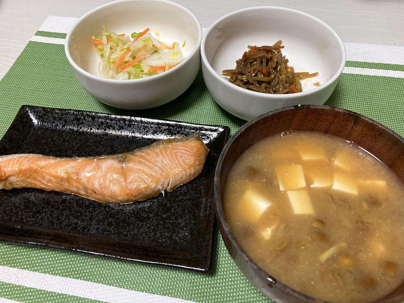 生銀鮭の塩焼き